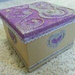 декор коробки с блесткамми