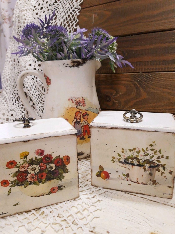 декоративные коробки на кухне