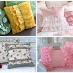 вышитая подушка разные