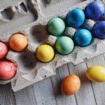 декупаж яйца радуга