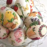 декупаж яйца цыпленок