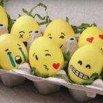 декупаж яйца эмоджи