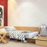 низкая детская кровать