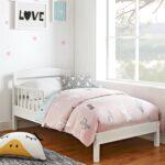 высокая белая детская кровать