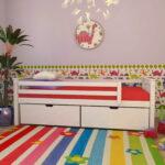 детская кровать с защитой по бокам