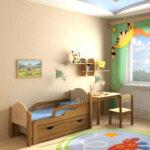 деревянная детская кровать с бортами