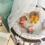 круглая кроватка для малыша