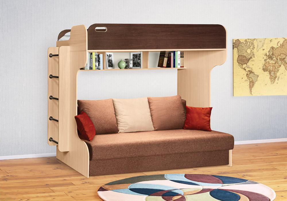 плюсы и минусы двухъярусной кровати с диваном