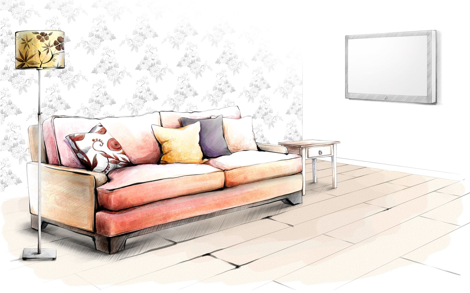 эскиз дивана фото