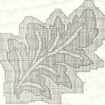 схема салфетки лист
