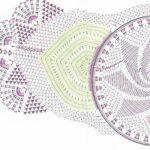 схема салфетки филейной крючком