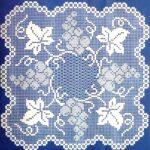 филейная салфетка синяя