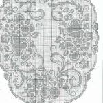 схема филейной овальной салфетки