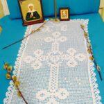 филейная салфетка с крстом