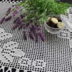 филейная салфетка с лавандой