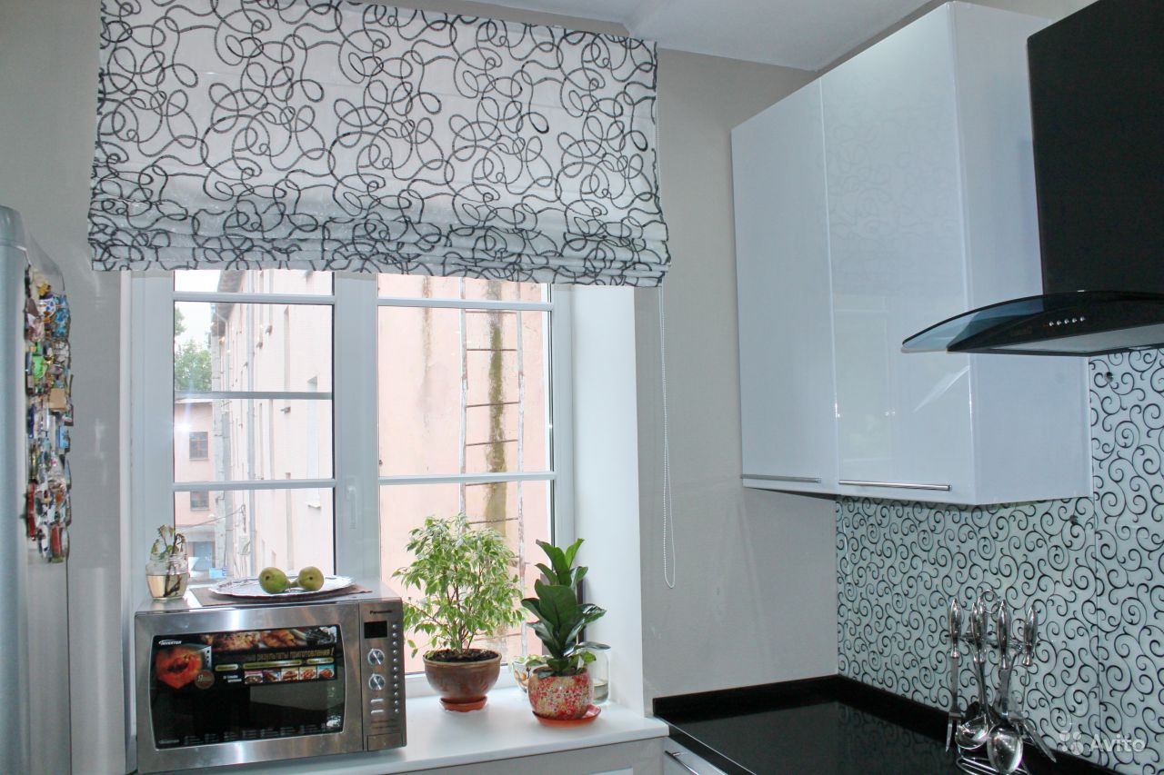 рулонные шторы белые