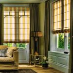 греческие шторы оливковые