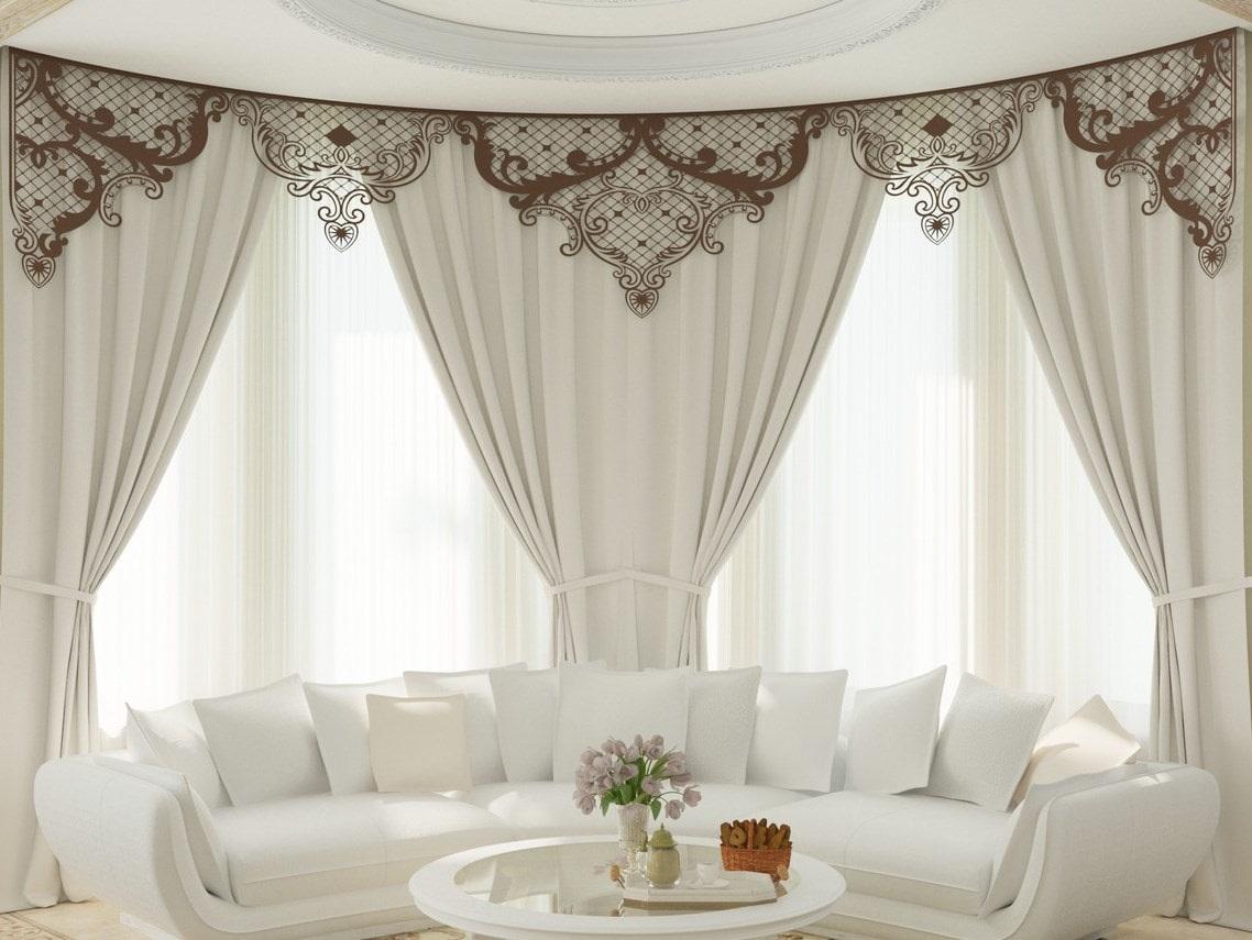 греческие шторы со складками