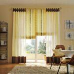 греческие шторы желтые с коричневым
