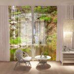 греческие шторы с фотодизайном