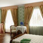 греческие шторы коричневые