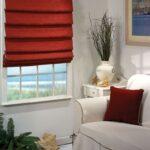греческие шторы красные