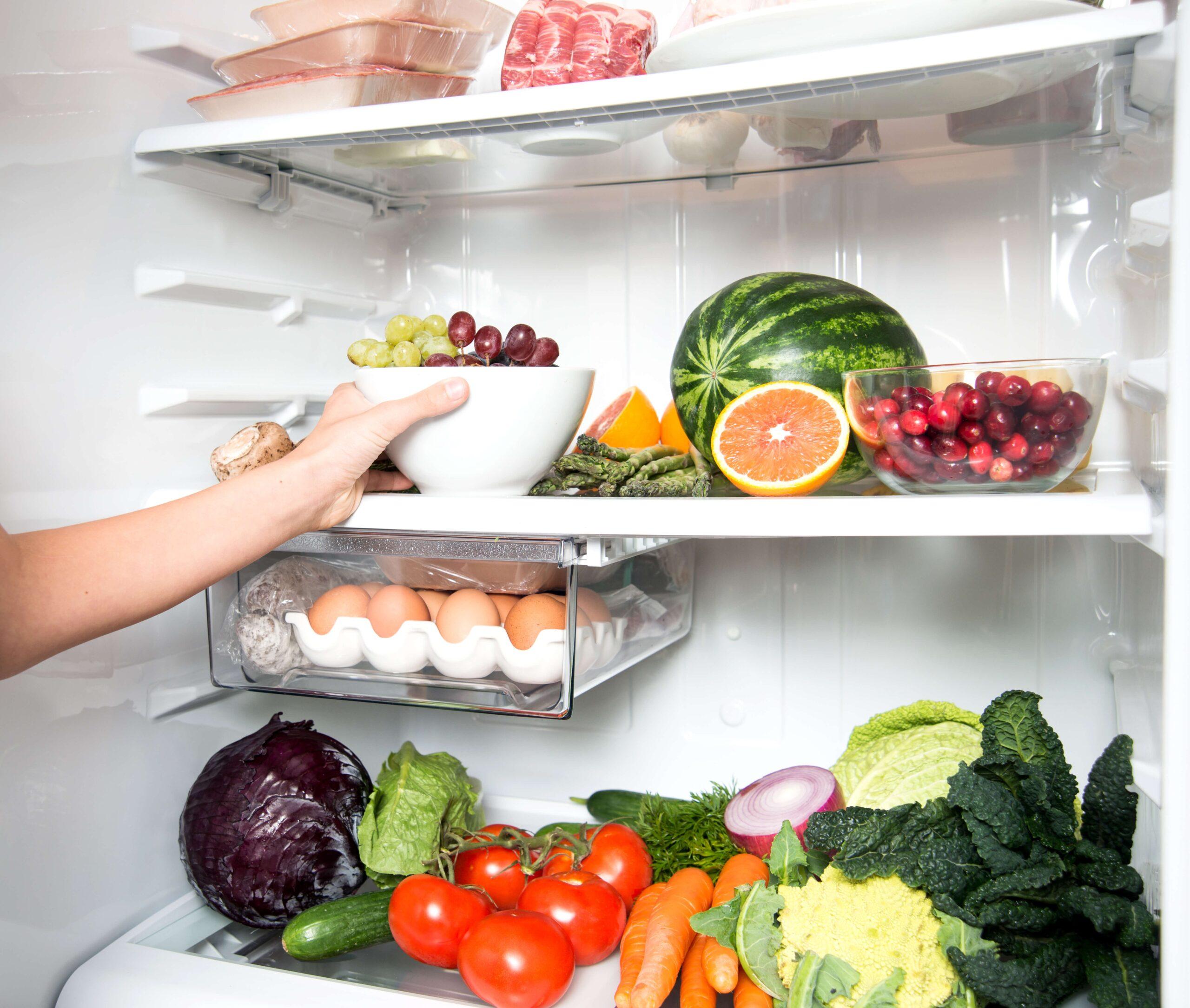 хранение яиц с овощами