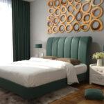 изголовье кровати зеленое