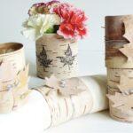 гвоздики в деревянной вазе