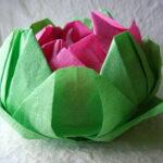 лотос из салфеток розовый