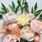 букет из цветов из салфеток