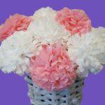 гвоздики белые и розовые