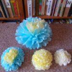 цветы из салфеток синие