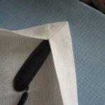 обработка углов шторы
