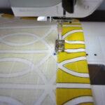 прошивание шторы на машинке