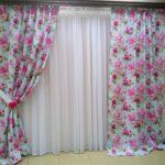 шторы с цветочным рисунком