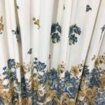 шторы хлопковые с цветами