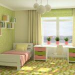 шторы зеленые детские