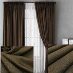 шторы плотные коричневые