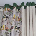 шторы на люверсах зеленые