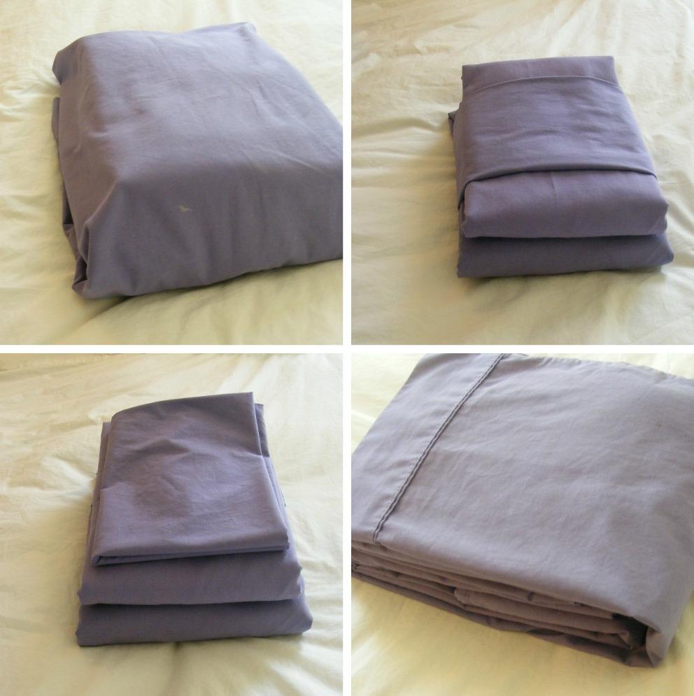складывание постельного белья