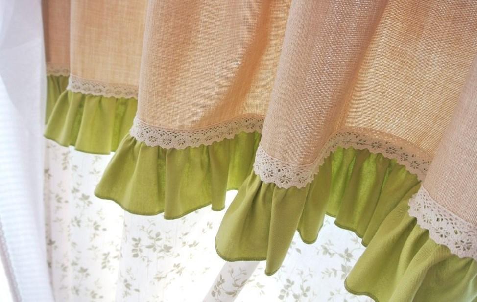 как удлинить шторы рюшами