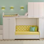 варианты использования двухъярусных кроватей