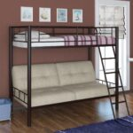 двухъярусная кровать-диван из металла