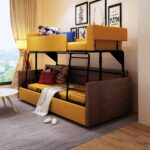 двухъярусная кровать с раздвижным диваном