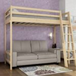 двухъярусная кровать с раздвижным диваном-книжкой