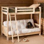удобная двухъярусная кровать с диваном