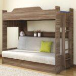 двухъярусная кровать-чердак с диваном