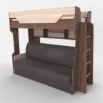 диван-книжка и кровать на втором ярусе