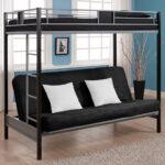 необычная кровать с диваном в коричневых тонах